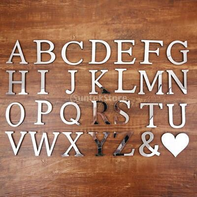 DIY A-Z Acrylic Letters Letters Alphabet Stickers Mirror Stickers For Living • 2.80£