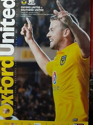OXFORD UNITED V SOUTHEND UNITED,8/1/2013.J.P.TROPHY AREA SEMI FINAL • 0.99£