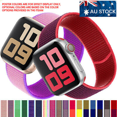 AU8.39 • Buy For Apple Watch Band Series SE 6/5/4/3/2 Nylon Woven Loop IWatch Strap 38 44 Mm