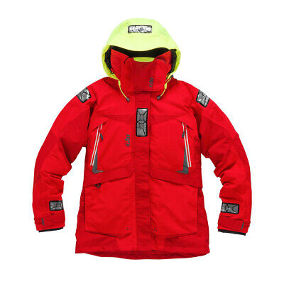 Gill Women's OS2 Offshore Ocean Sailing Jacket Red UK 12 RRP £275 (G107) • 115£