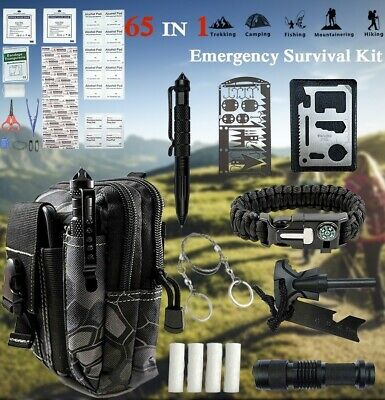 $29.69 • Buy 65 IN 1 Camping Survival Gear Kit Military Tactical Emergency EDC Outdoor Tool