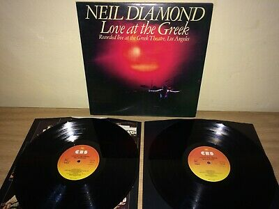 Neil Diamond. Love At The Greek LP. CBS 95001. 1977. VG+ / VG. • 1.25£