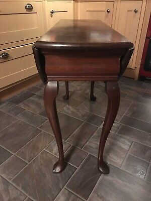 £65 • Buy Vintage Old Dining Drop Leaf Table , Solid Mahogany ,4 Leg ,Cabriole Legs