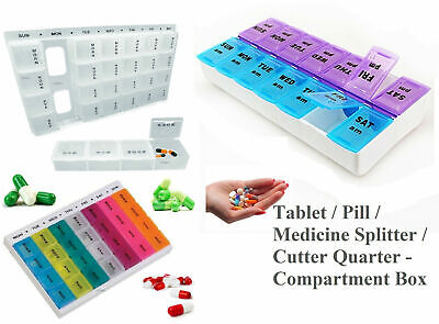 £2.79 • Buy Weekly Pill Box Daily Organiser Medicine Tablet Storage Dispenser 7 Day Small
