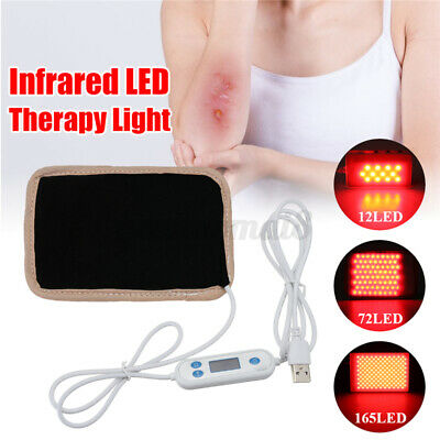 72/165LED USB LED Light Therapy Pad 630nm-660nm Infrared Pain Body Ligth  W • 24.67£