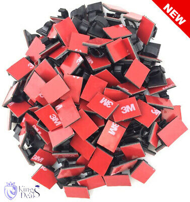£9.79 • Buy 	3M Cable Clips Lot X100 Car Wire Tie Self Adhesive Sticky Clamp Foam Sticker