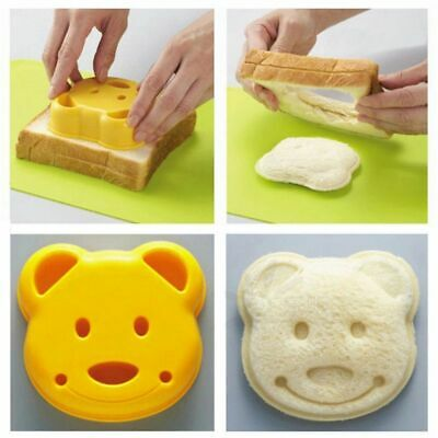 Little Plastic Bear Shape Sandwich Bread Cake Mold Maker DIY Mold Cutter Mould • 2.90£