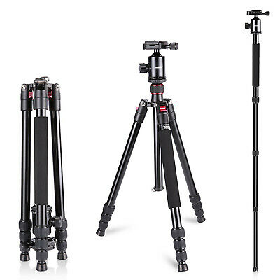 AU69.99 • Buy Neewer 64 Inches Camera Travel Tripod Monopod With 1/4 Inch Quick Shoe Plate