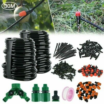 /30M Micro Drip Irrigation Watering Automatic Garden Plant Greenhouse System Set • 12.59£