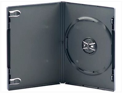 AU12.80 • Buy (5pcs) X PREMIUM Single Black 14mm Thick CD / DVD Cases Cover Box- Hold 1 Disc