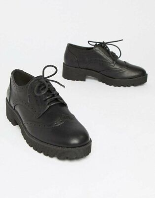 £19.99 • Buy London Rebel Chunky Lace Up Brogue In Black Size UK 7
