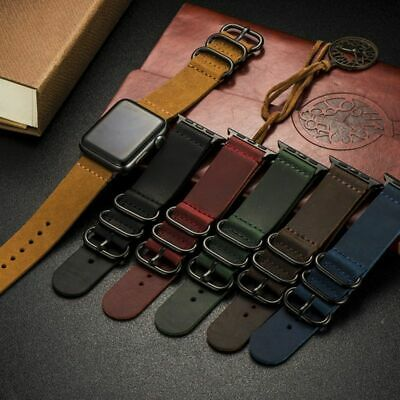 AU30.25 • Buy Genuine Suede Leather Watch Band Watch Strap For Apple Watch 38mm 40mm 42mm 44mm