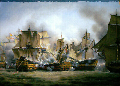 £2.99 • Buy The Redoutable At The Battle Of Trafalgar, Victory On The Left And The Temeraire