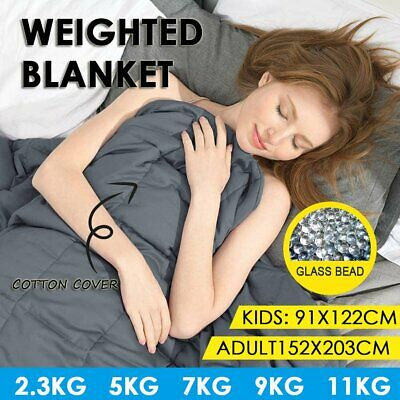 AU62.99 • Buy 5/7/9/11KG Cotton Cover Weighted Blanket Heavy Gravity Deep Sleep For Adult Kid