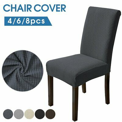 AU17.99 • Buy 4-8Pcs High Stretch Dining Chair Cover Spandex Slipcover Jacquard Washable Party