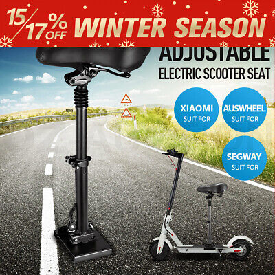 AU79.95 • Buy Adjustable Electric Scooter Seat Saddle For Xiaomi/Auswheel Scooter Black