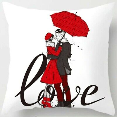 Cushion Cover Valentine's Day Love Pillow Colorful 18'' X 18  45cm X 45 Cm UK • 4.80£