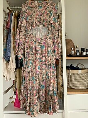 AU212.52 • Buy 🌷Spell & The Gypsy Collective Sayulita Frill Gown Musk, Size L, NWOT🌸