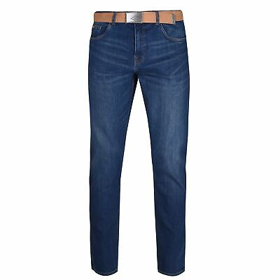 £19.99 • Buy Lee Cooper Belted Jeans Mens Gents Straight Pants Trousers Bottoms Lightweight