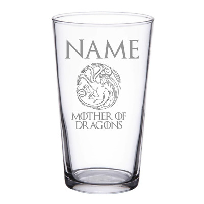 £11.90 • Buy Custom Mother Of Dragons Game Of Thrones Inspired Pint Glass