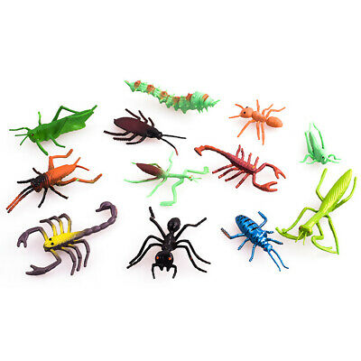 £5.28 • Buy 12Pcs Insect Model Figure Toys For Kids Children Assorted Bugs Creative UK