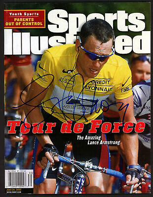 Lance Armstrong Autographed Signed Sports Illustrated No Label Beckett A28319 • 107.81£