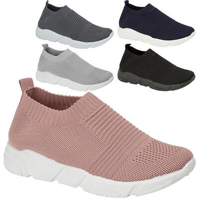 £13.95 • Buy Womens Running Sock Trainers Ladies Mesh Jogging Sneakers Comfy Sport Shoes Size