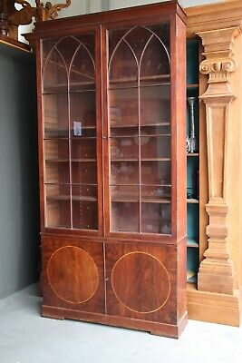 AU8500 • Buy Antique Georgian 18th Century Glazed Door Bookcase Adjustable Mahogany 1780