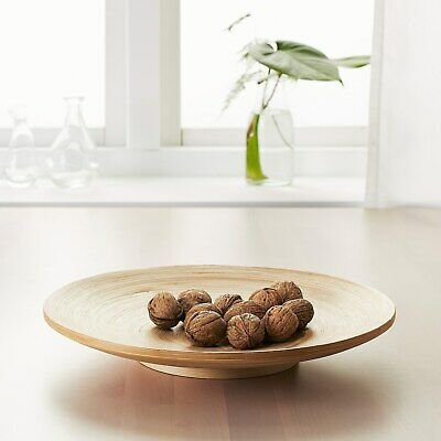 £13.99 • Buy IKEA HULTET Round Circle Dish Wooden Bamboo 30 Cm Home Deco  NEW