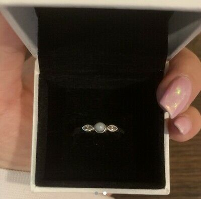 Genuine Pandora Pearl Ring Size 52 With Box And Bag Included • 19£
