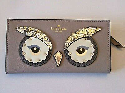 $ CDN74.99 • Buy Kate Spade Star Bright Owl Stacy Womens's Leather Wallet Clutch New York