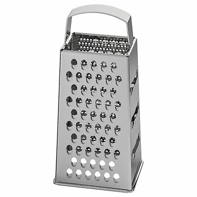 £6.99 • Buy IKEA IDEALISK Four Sided Grater Stainless Steel Cheese Vegetable Cutter Slicer