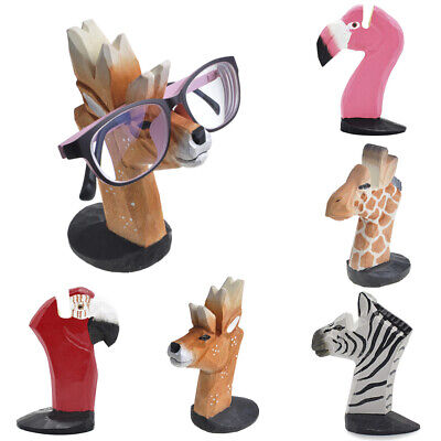 3D Animal Wood Carving Shape Glasses Holder Stand For Sunglasses Eyeglass Cute • 5.95£