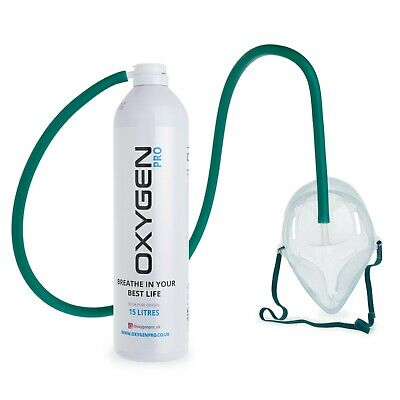 O2 15L Breathing Oxygen Can With Mask And Tube • 19.99£