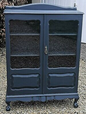 £595 • Buy Antique Victorian French Style Display, China, Bookcase,( Railings Farrow & Ball