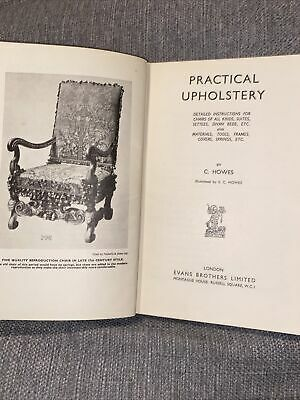 Practical Upholstery By Howes, Clarence Book The Cheap Fast Free Post • 7.40£
