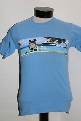 $4.59 • Buy DISNEY CRUISE LINE Mens Small S Mickey T Shirt Combine Ship Discount