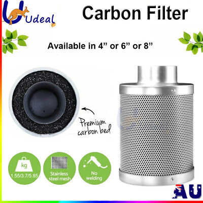 AU80.98 • Buy Carbon Filter 4  6  8  Inch Odor Control For Fan Grow Tent Hydroponics Environme