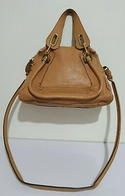 Chloe Paraty Light Tan Leather Small Shoulder Bag With Dust Bag  • 410£