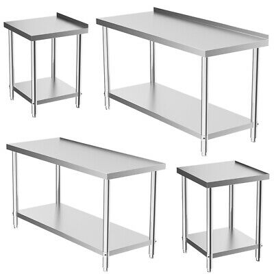 £135.95 • Buy Stainless Steel Commercial Catering Table Work Bench Kitchen Worktop Food Prep
