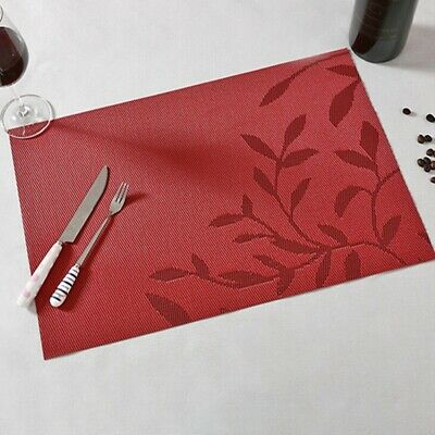 AU4.88 • Buy PVC Place Mats And Coasters Dining Table Placemats Non-Slip Washable Tool SG