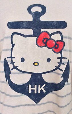 Hello Kitty – T-shirt – Old Navy – Anchor/ Nautical – Size M (suits 12) • 15£