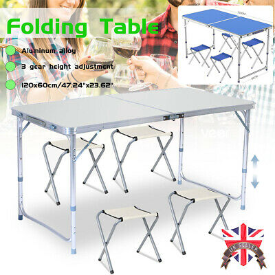 4ft Heavy Duty Folding Table Portable Plastic Camping Garden Party Catering Bbq • 24.69£