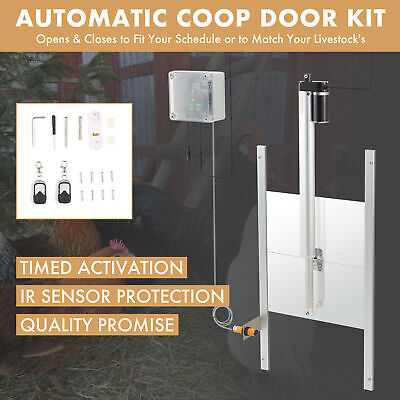 £83.99 • Buy Automatic Timer Chicken Coop Door Opener With Remote Controls And IR Sensor 66W
