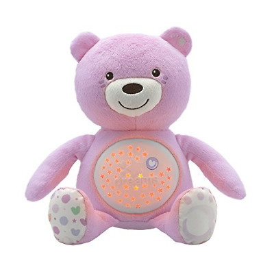 Chicco First Dreams Baby Bear Pink Musical Night Light Plush Teddy Toy • 22.75£