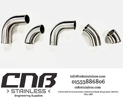 £6.80 • Buy 90 & 45 Degree Stainless Elbows Bends 304 316 1d Iso 3a Radius Exhaust Mandrel