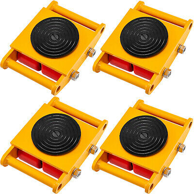 $169.99 • Buy VEVOR Machinery MoverMachinery Skate Dolly6T, W/ 360° Rotation, 4pcs In Yellow