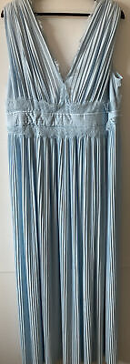 AU45 • Buy ASOS ~ Plus Size 18 ~ Curve Pleated Formal Maxi Dress, V-Neck Gorgeous Fringe