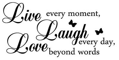 Live Laugh Love Black And White PICTURE PRINT CANVAS WALL ART FRAMED 20X30INCH • 22.99£
