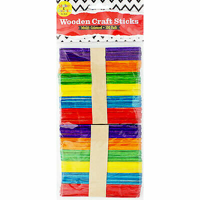 Lollipop Lolly Wooden Sticks Natural Craft Model Making,100 Ice Lollies • 2.99£